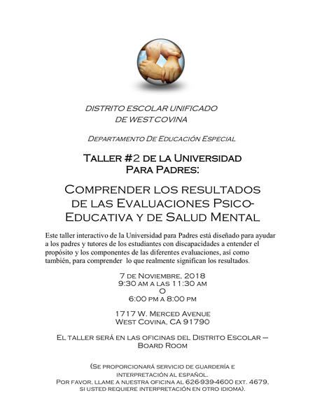 Spanish Special Education Flyer